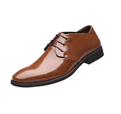 Estate zmlsc Soft Sport Punta Inverno da Colore Business Round Casual Autunno Canvas A Ribbon Scarpe Uomo Primavera Brown rFq4Bx7r