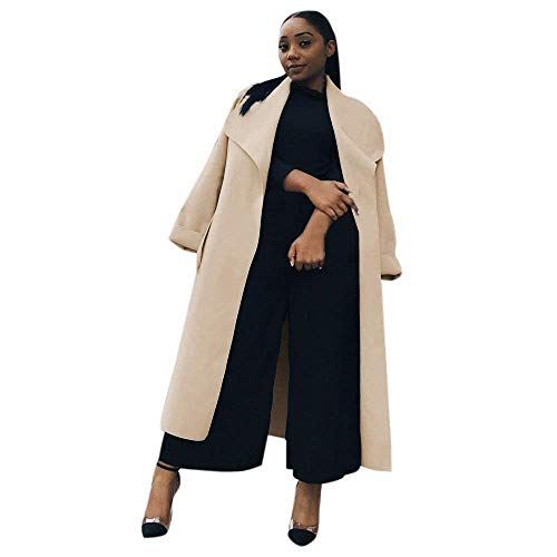 BOLAWOO Manteaux Femme Longues Automne Hiver Trench El