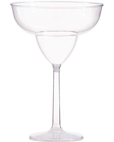 Amscan 354001.86 Jumbo Margarita Glass, 30 oz, Clear