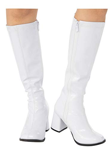 White GoGo Boot for Adults 6 -