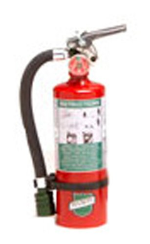 Buckeye 70259 Halotron Hand Held Fire Extinguisher with Aluminum Valve and Wall Hook, 2.5 lbs Agent Capacity, 3-3/8'' Diameter x 6-3/4'' Width x 13-3/8'' Height