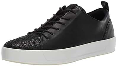 ECCO Women's Women's Soft 8 Sneaker, Black Shimmer, 35 M EU (4-4.5 US)