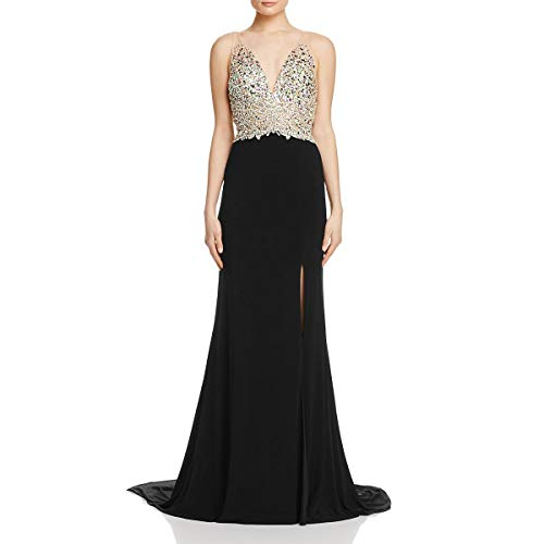 Jovani Embellished Illusion Formal Dress Black 2