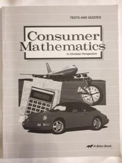 Abeka Book Consumer Mathematics Student Tests and - Tests Consumer Math
