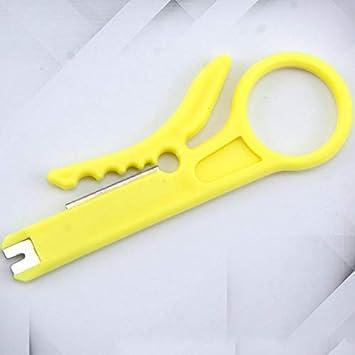 Pelacables simples Pelacables Herramienta de engarzado automático Alicates de pelado Cortador de terminales Engarzadora de múltiples herramientas - Amarillo: Amazon.es: Bricolaje y herramientas