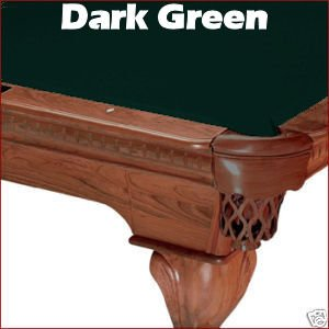 8u0027 Dark Green Mali 865 Teflon Pool Table Cloth Felt