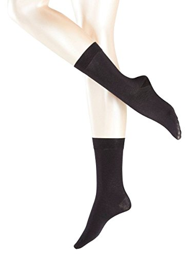 Falke Womens Sensual Cashmere Midcalf Socks – Black – Medium/Large