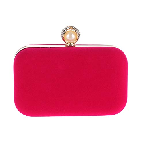 Velvet Hand Bag Crystal Purse Party Day Pearl Velour ULKpiaoliang Women Mini Ladies Evening Wedding Bridal Clutch Bags rose 5PqIUfF