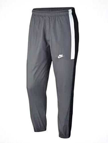 Nike Men's Sportswear Loose Fit Woven Pants Grey Black White AQ1895 065 (m) (Nike Pant Mens Woven)