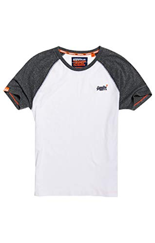 Biancooptique 01cBaseball Label Superdry Orange shirt Tee Herren POTXukZi