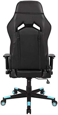 WJHCDDA Chaise Bureau Chaise Ergonomique Jeu Chaise Pliante Pieds pivotant Robuste Haut Backoffice PC Chaise de Bureau avec Coussin Lombaire, réglable Accoudoirs
