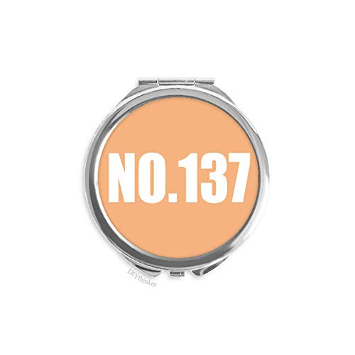 Lucky No.137 Number Name Hand Mirror Pocket Makeup Round Glass (137 Glasses)