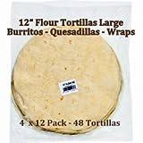 "Romero's 12"" Flour Tortillas for Burritos 48 ct"