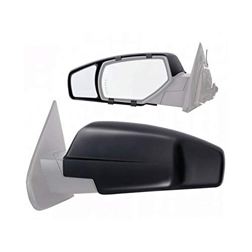 Mirrors On Clip Towing - Fit System K-Source 80910 Towing Mirror Chevy/Gmc Pair