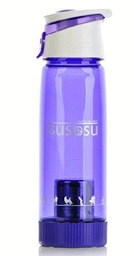 Portable Alkaline Ionizer Water Bottle (24 oz/720 ml) By Susosu - Transform Normal Tap Water in to Premium Alkaline Mineral Drinking Water