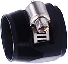 エアチューブクリップ 燃料ホースパイプ用 ホースクランプ 固定工具 便利 簡単実用 全3色 - ブラック