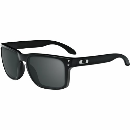 Oakley Holbrook Sunglasses, Matte Black Frame/Warm Grey Lens, One ()