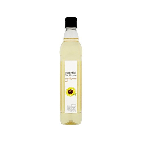 Sunflower Oil essential Waitrose 500ml - Pack of 4