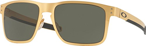 Oakley Men's Holbrook Metal Square Sunglasses, Satin Gold, 55 mm