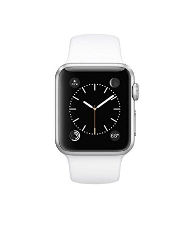 Apple Watch WiFi 38mm Aluminum Case - White Sport Band (Refurbished)