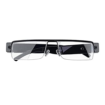 Spy Camera Glasses 1080p Support Up to 32GB TF Card Fashion Camera Glasses with Video Portable Video Recorder by Hereta