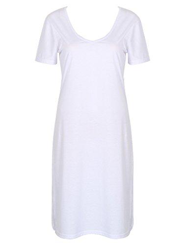 Persun Women T shirt Cutout Medium