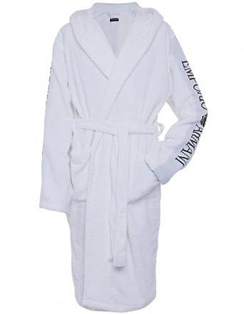 9a1fa17296 Emporio Armani Men s Accessory White Towelling Bathrobe XL  Amazon ...