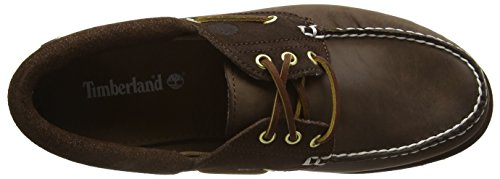 Timberland Classic 3 Eye Lug, Mocasines Para Hombre Marrón (Potting Soil Saddleback Full Grain With Suede)