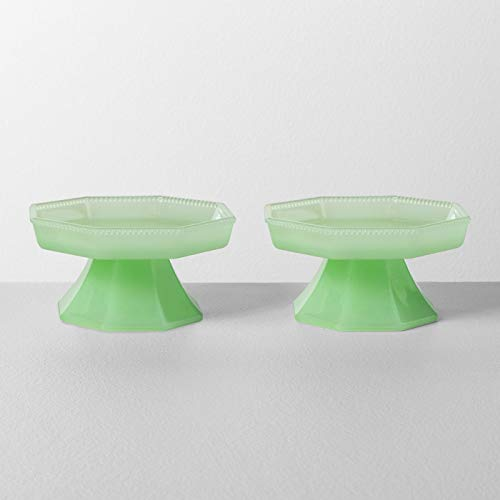 Hearth & Hand with Magnolia Green Milk Glass Cupcake Stands (2-Pack) -
