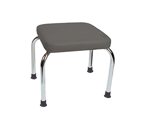 Stationary Stool, No Back, Square Top, 18