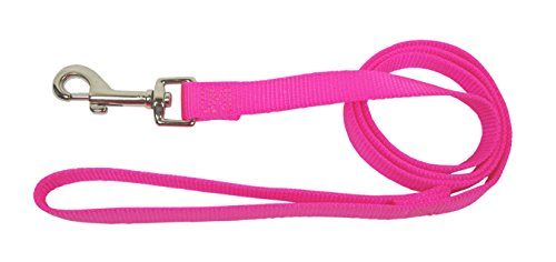 - Hamilton Single Thick Deluxe Nylon Lead with Swivel Snap, 5/8-Inch by 6-Feet, Hot Pink