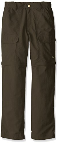 - White Sierra Youth Trail Convertible Pants, Dark Sage, Large