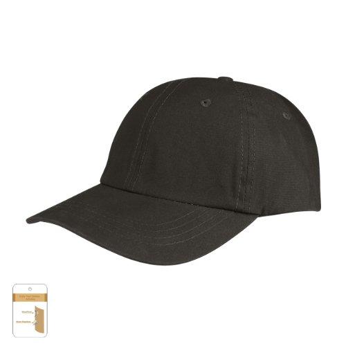 Juniper Low Profile (Unconstructed) Waxed Cotton Canvas Cap, One Size, Black