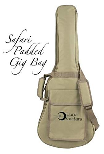 Luna GBSAF Safari Guitar Gig Bag with Heavy Padding by Luna Guitars