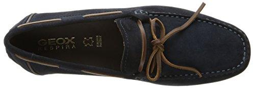 Geox Hombres M Monet 35 Zapato De Barco Azul Marino / Ébano