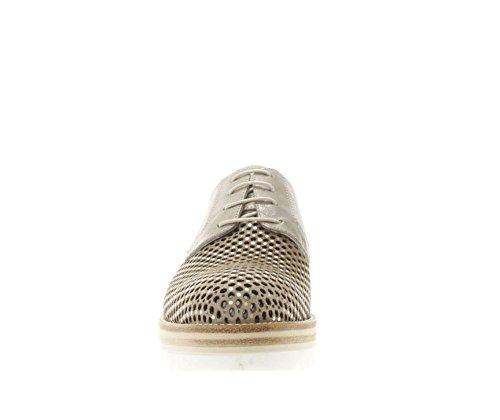 Gamuza Mujer Giardini as 38 y Nero Antideslizante de N para Goma en Beige Lentejuelas Cordones Suela con Cuero Blanca con Peque Marfil Doradas Calado Zapatos Xqnt7P