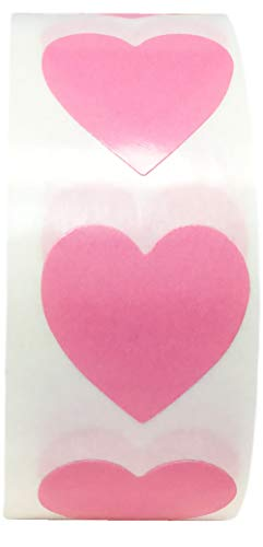 (Pink Heart Stickers Valentine's Day Crafting Scrapbooking 0.75 Inch 500 Adhesive Stickers)