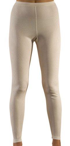 (Hocosa of Switzerland Women's Long-Underwear Pants, Organic Wool-Silk, Natural White, s. 42/US 12)