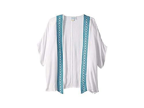 (Roxy Kids Girl's The Little Mermaid Desert Oasis Kimono Swim Cover-Up (Big Kids) Bright White Medium)