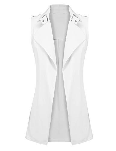 Inverted Pleat Coat - Gfones Women's Open Front Blazer Jacket Coat Casual Sleeveless Solid Vest Tops