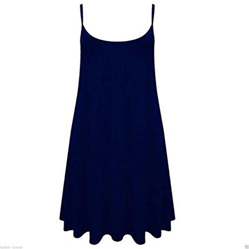 Papaval - Camiseta sin mangas - para mujer azul marino