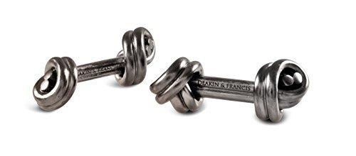 Deakin and Francis Double Knot Cufflinks, Dark Grey Rhodium