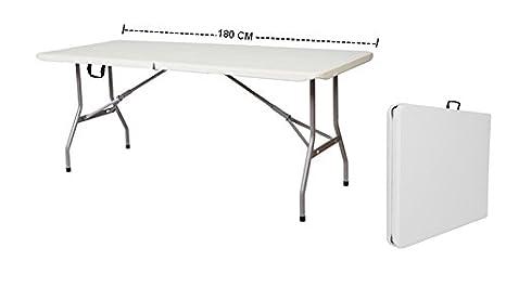 Tavoli Pieghevoli Da Mercatino.Grecoshop Tavolo Pieghevole A Valigetta Piano Hdpe Ideale