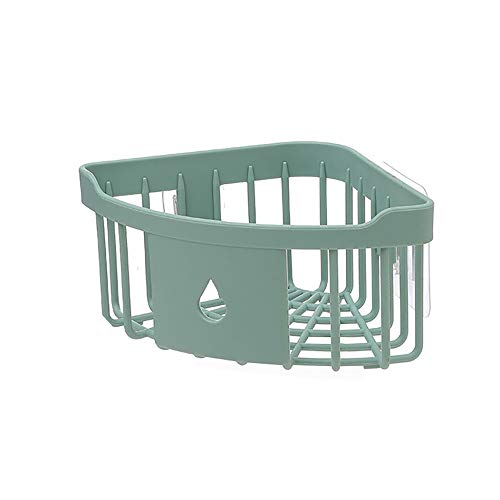 Ninasill Wall Mounted Tripod RackPlastic Bathroom Kitchen Corner Storage Rack Organizer Shower Shelf ,Punch Free (Green)]()