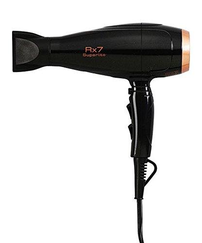 RX7 Black &Copper Superlite Ionic Tourmaline Hairdryer
