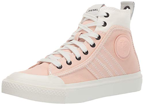 (Diesel Women's S-ASTICO LACE W-Sneaker mid, Star White/Cream tan 10 M US)