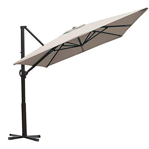 Abba Patio Rectangular Offset Cantilever Umbrella Outdoor Patio Hanging Umbrella