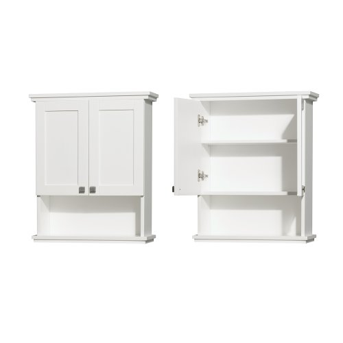 Wyndham Collection Acclaim Solid Oak Bathroom Wall-Mounted Storage Cabinet in White by Wyndham Collection (Image #2)