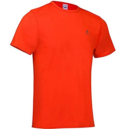 e9f223b0c85640 Buy Domyos FTS100 Fitness Cardio T-Shirt - Red Online at Low Prices ...