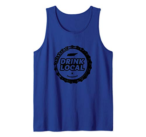 - Drink Local Tennessee Craft Beer Bottle Cap Tank Top